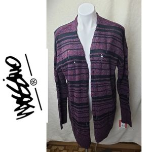 Mossimo multicolor knit long cardigan size L.
